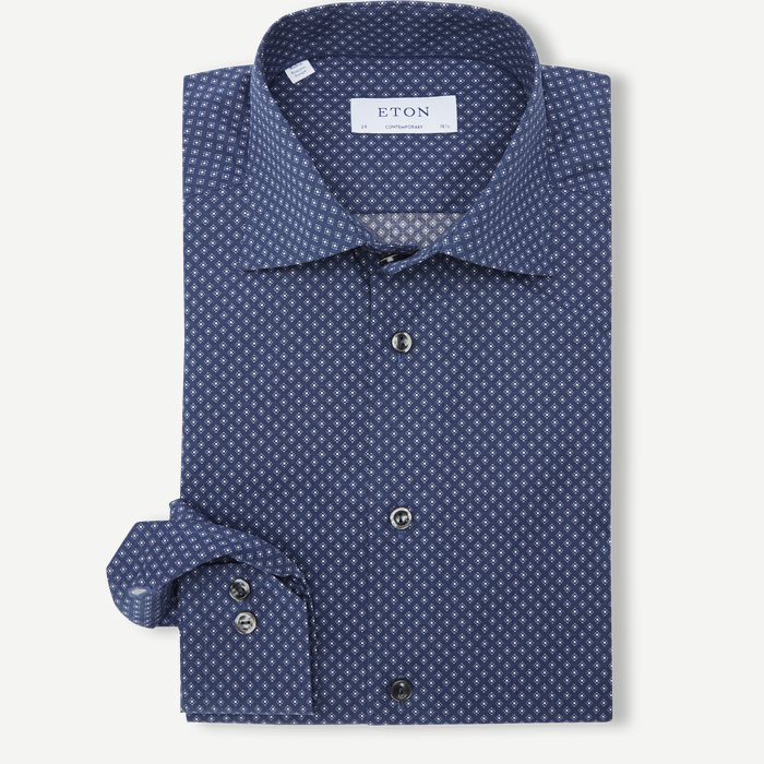 Poplin Skjorte - Skjorter - Contemporary fit - Blå