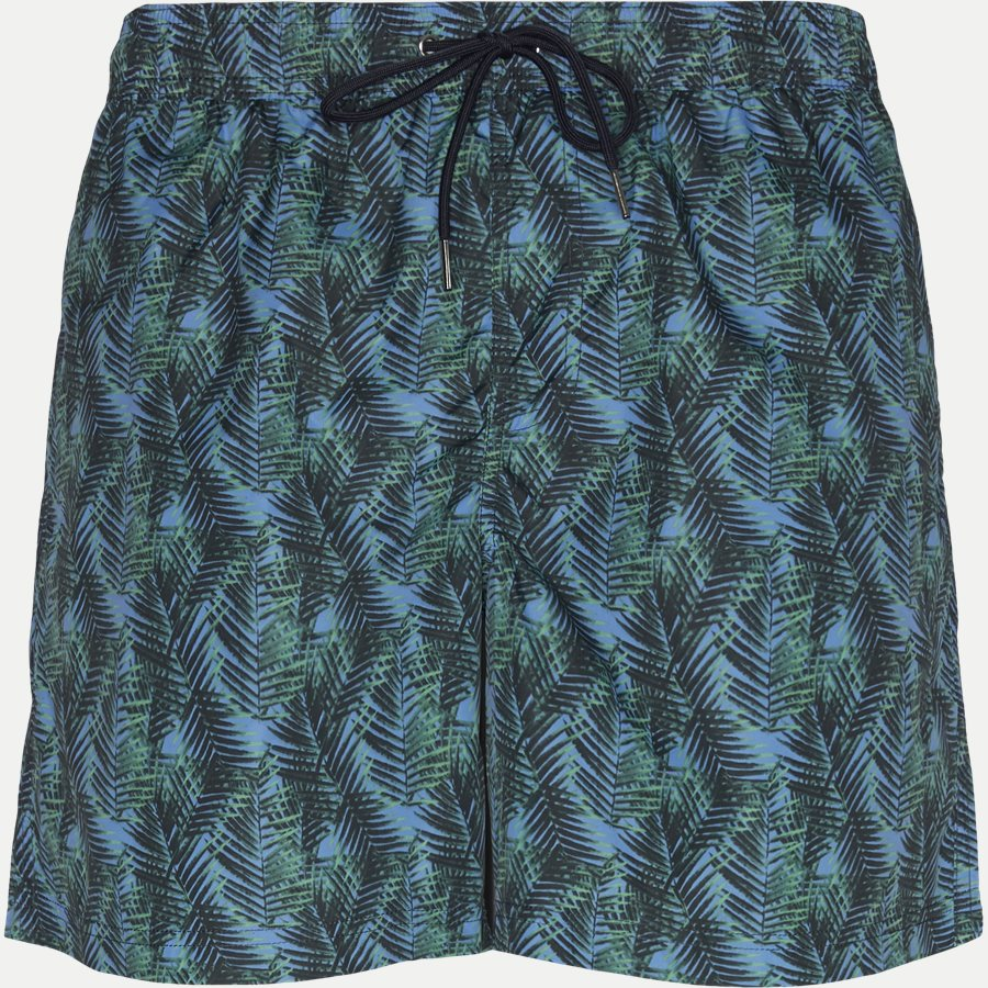 3077 SWIMTRUNK PALM PRINT - Badeshorts - Shorts - Regular - GRØN - 1