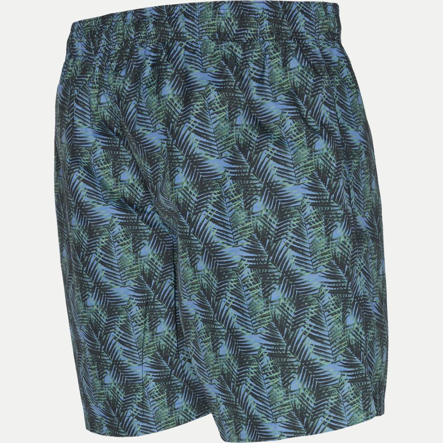 3077 SWIMTRUNK PALM PRINT - Badeshorts - Shorts - Regular - GRØN - 3