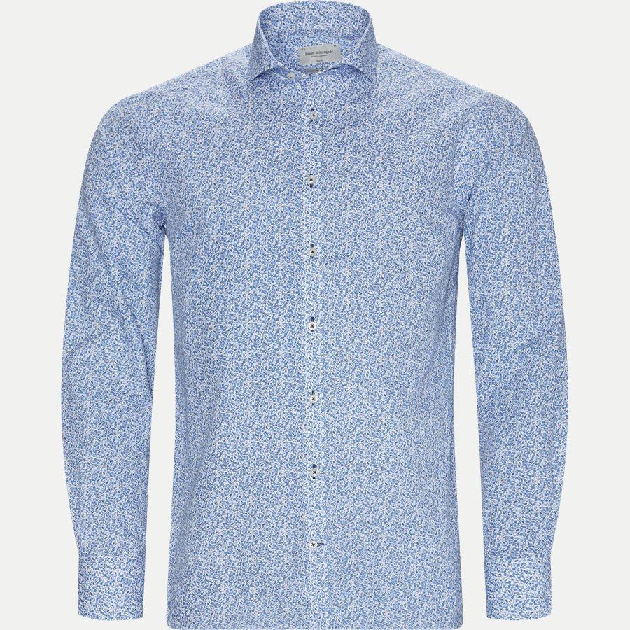 BS ALKINS - Alkins Skjorte - Skjorter - Slim - BLÅ - 1