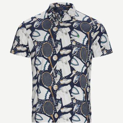 Wimbledon Ret Multi Polo T-shirt Regular | Wimbledon Ret Multi Polo T-shirt | Blå