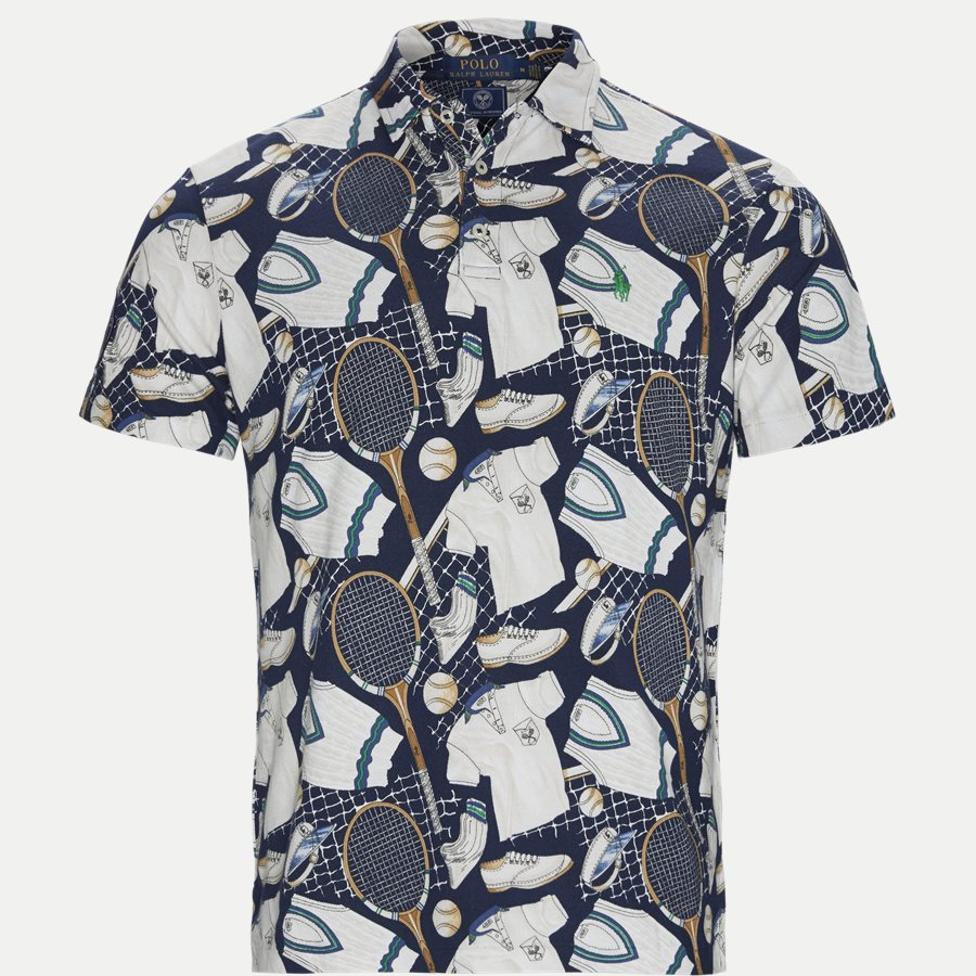 710748058 - Wimbledon Ret Multi Polo T-shirt - T-shirts - Regular - NAVY - 1