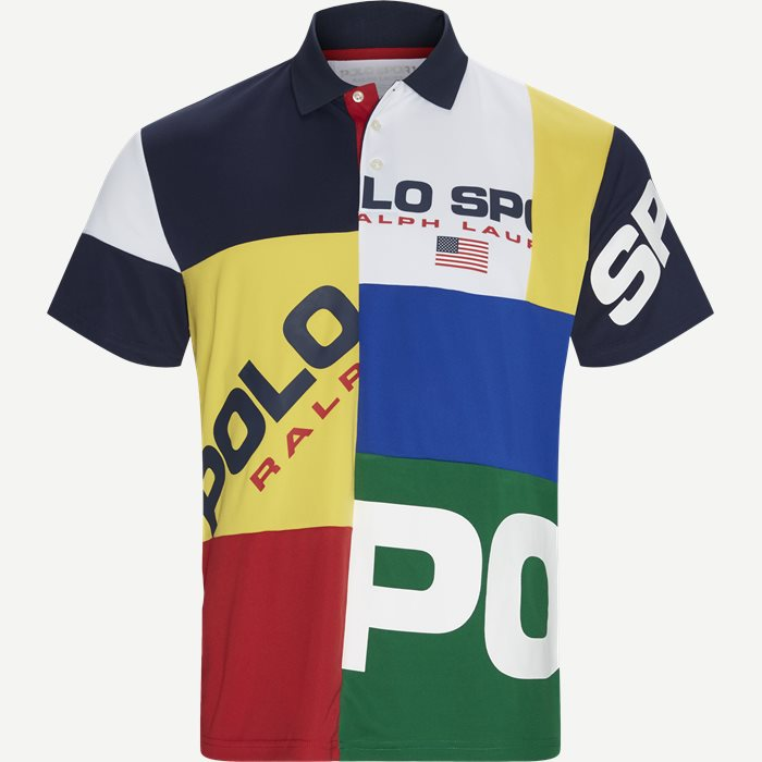 Multi Colored Polo T-shirt - T-shirts - Regular - Grøn