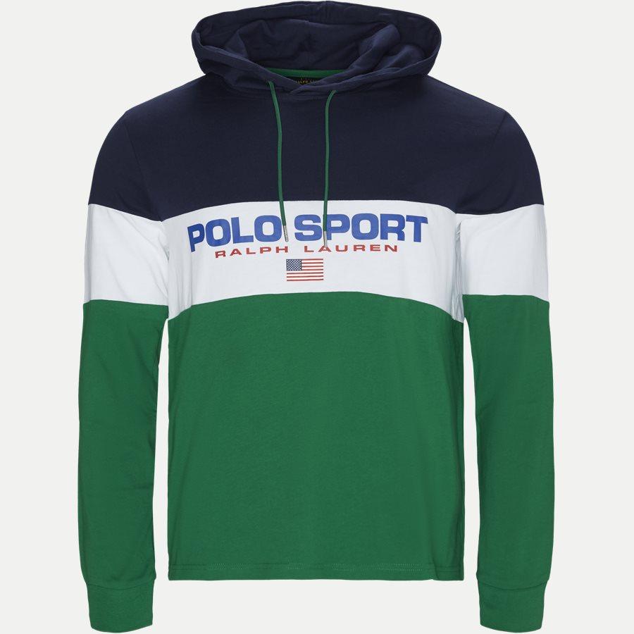 710771938 - Cotton Polo Hoodie  - Sweatshirts - Regular - GRØN - 1