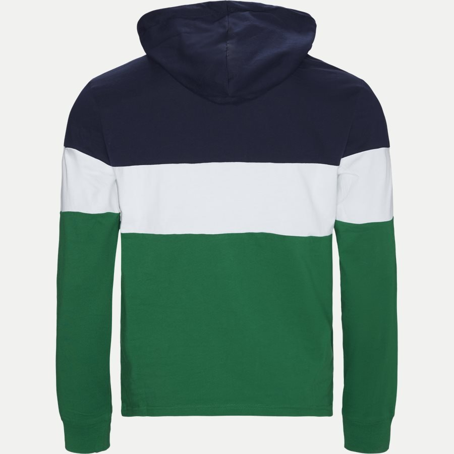 710771938 - Cotton Polo Hoodie  - Sweatshirts - Regular - GRØN - 2