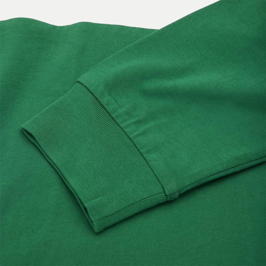 710771938 - Cotton Polo Hoodie  - Sweatshirts - Regular - GRØN - 3