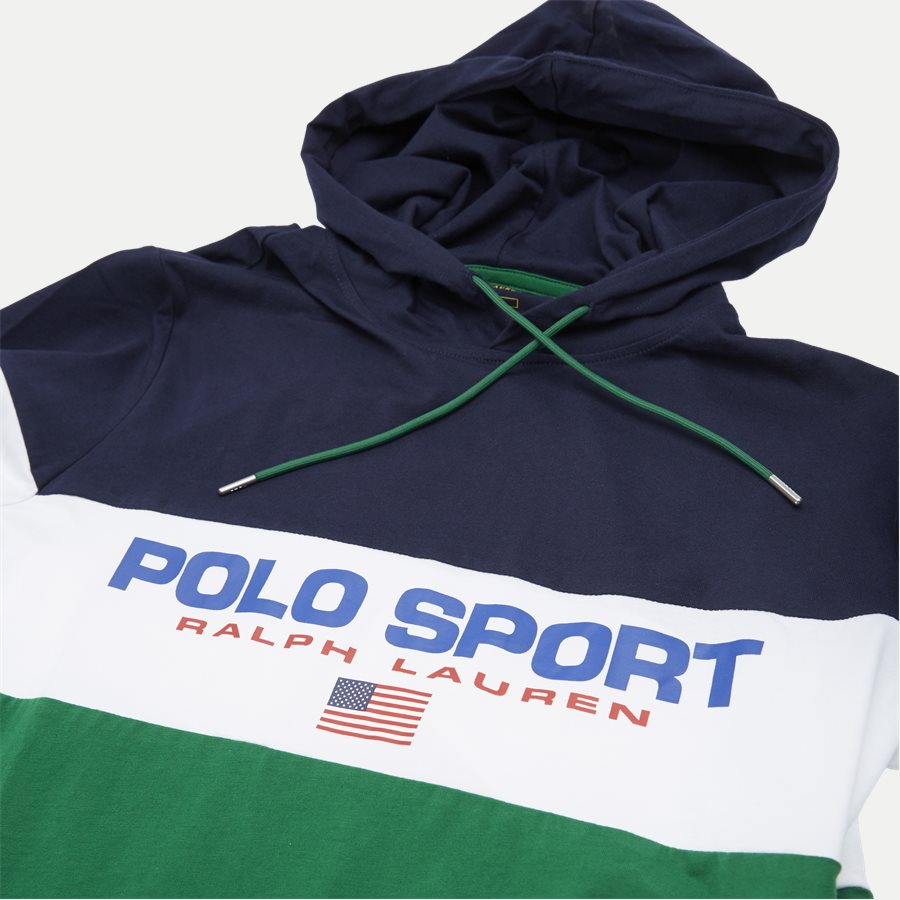 710771938 - Cotton Polo Hoodie  - Sweatshirts - Regular - GRØN - 4