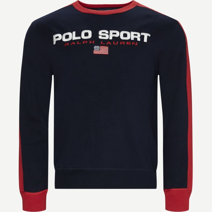 Polo Sport Cotton Jumper - Sweatshirts - Regular - Blå