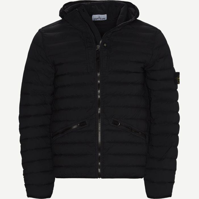 Loom Woven Down Chambers Stretch Nylon Jacket - Jakker - Regular - Sort