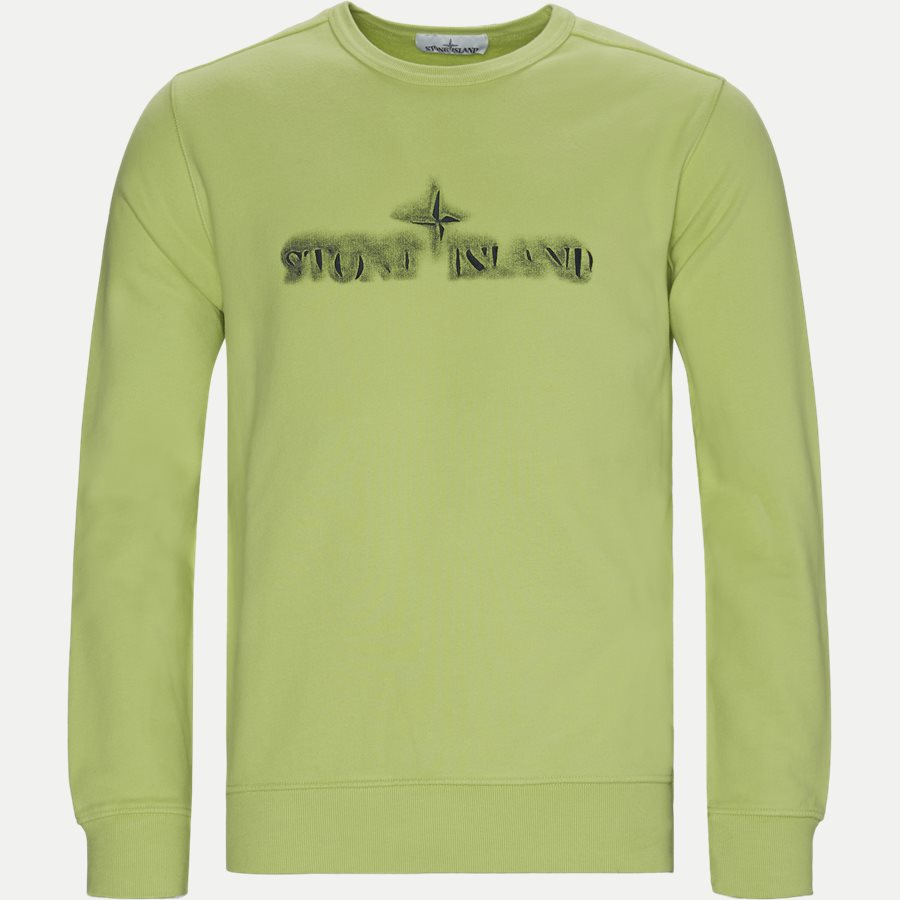 62790 - Logo Crewneck Sweatshirt - Sweatshirts - Regular - GRØN - 1