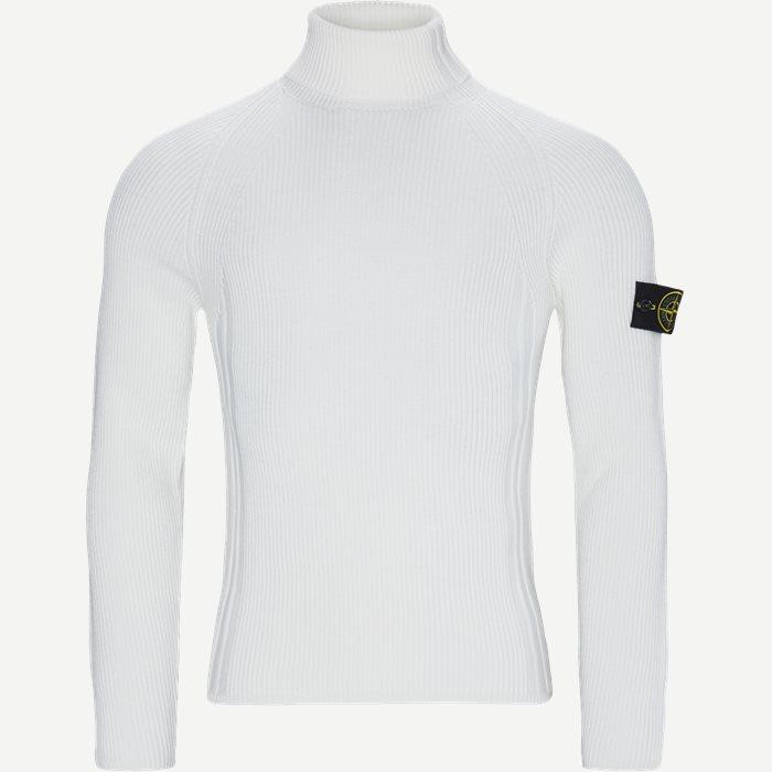 High Neck Sweater - Strik - Regular - Hvid
