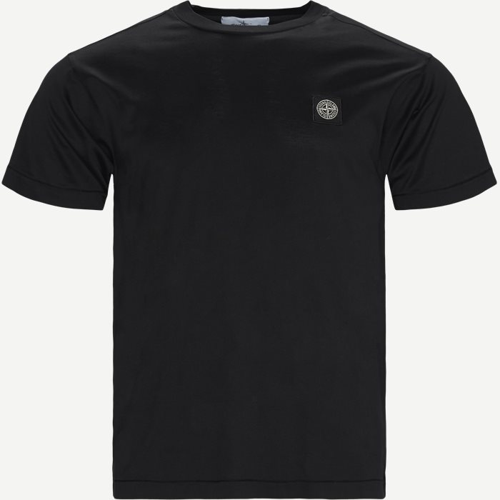 Crewneck Logo T-shirt - T-shirts - Slim - Sort