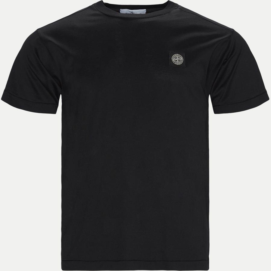 24113 - Crewneck Logo T-shirt - T-shirts - Slim - SORT - 1