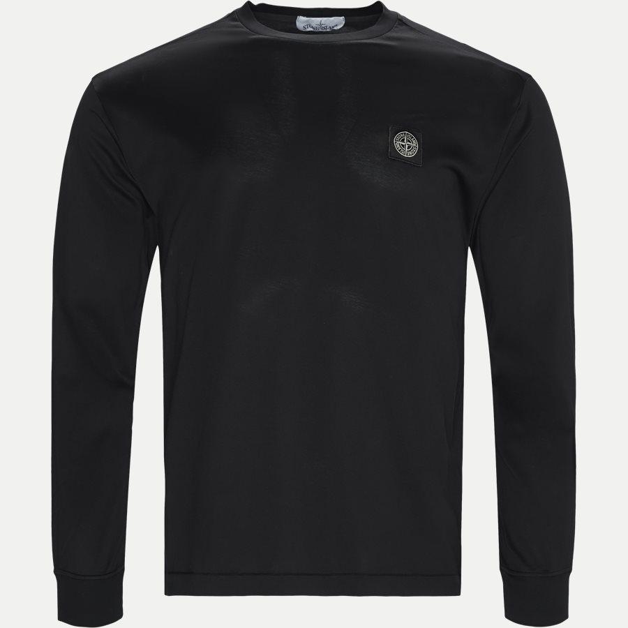 22713 - Long Sleeve Logo T-shirt - T-shirts - Slim - SORT - 1