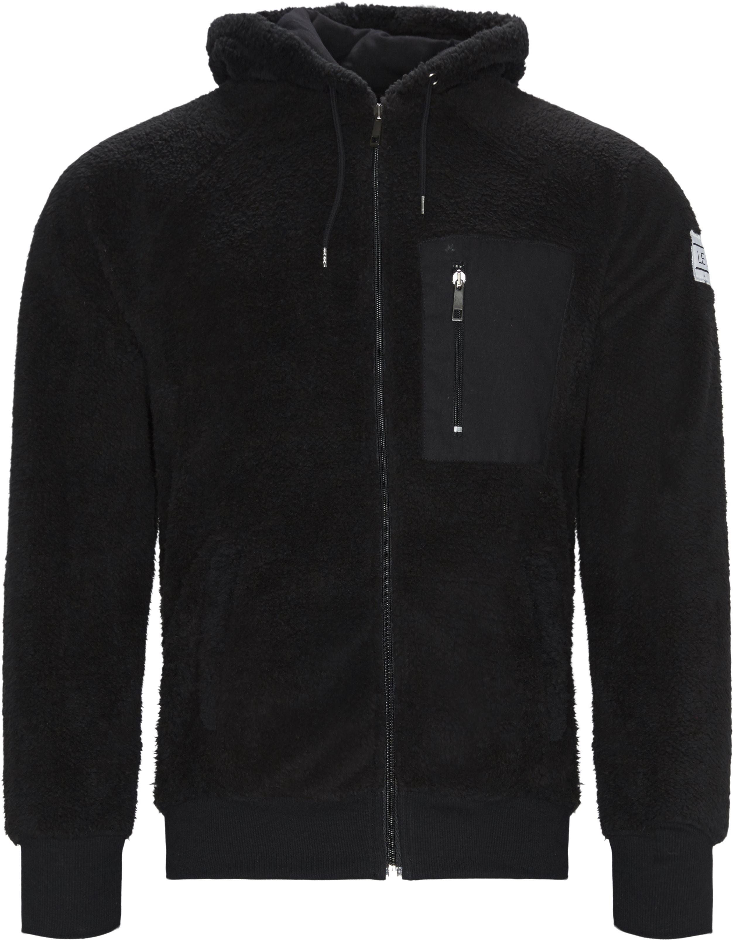 Coucy Zip Sweatshirt - Sweatshirts - Regular fit - Sort