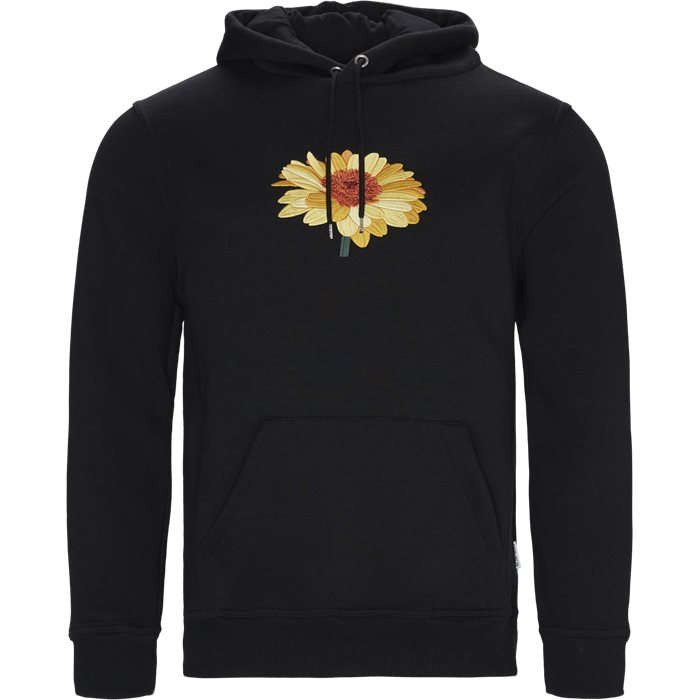 Sunflower Hoodie - Sweatshirts - Regular - Sort