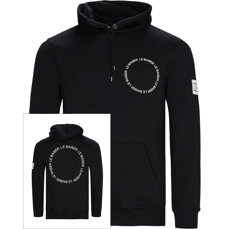 BEZIERS - Beizers Hoodie - Sweatshirts - Regular - BLACK - 1