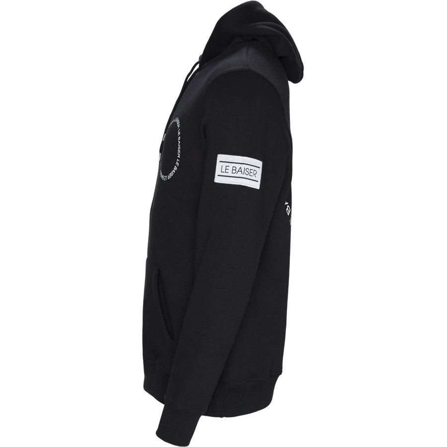 BEZIERS - Beizers Hoodie - Sweatshirts - Regular - BLACK - 4