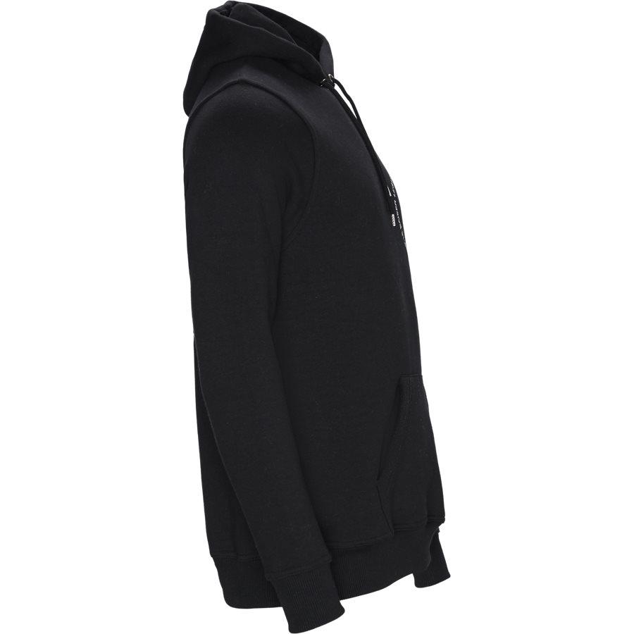 BEZIERS - Beizers Hoodie - Sweatshirts - Regular - BLACK - 5