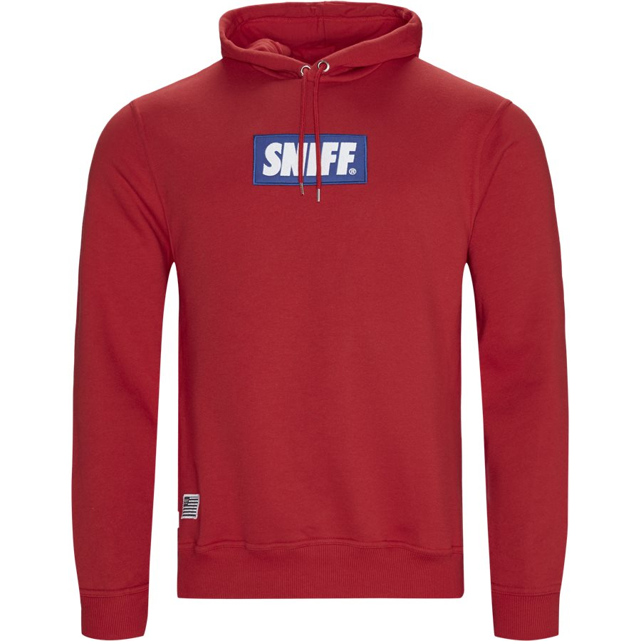 FORCE - Force Hoodie - Sweatshirts - Regular - RED - 1