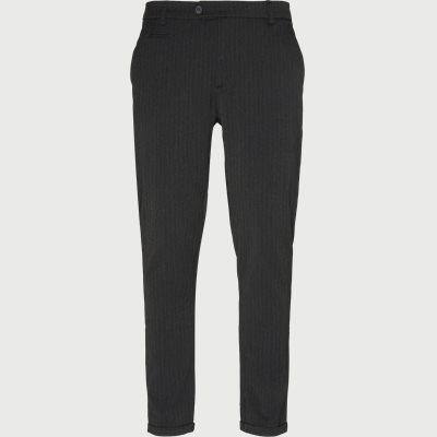 Como Pinstripe Suit Pants Slim | Como Pinstripe Suit Pants | Grå