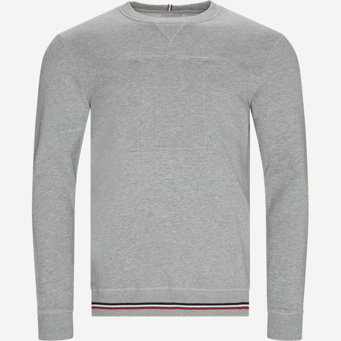 Embossed Sweatshirt - Sweatshirts - Regular - Grå