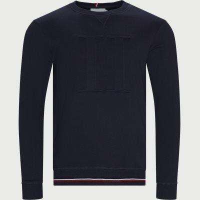 Embossed Sweatshirt Regular | Embossed Sweatshirt | Blå