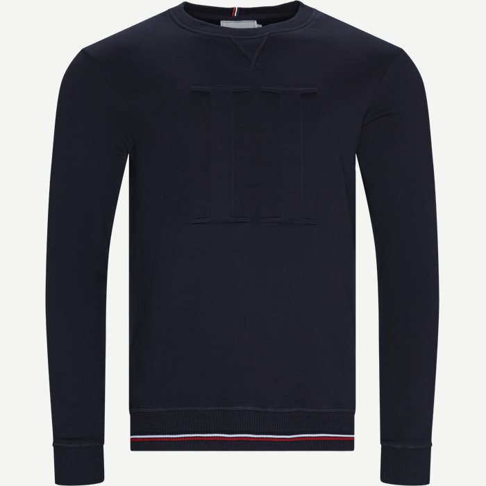 Embossed Sweatshirt - Sweatshirts - Regular - Blå