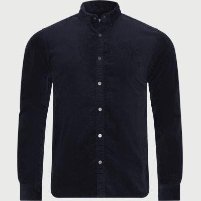 Felix Corduroy Shirt Slim | Felix Corduroy Shirt | Blå