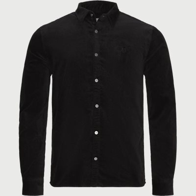 Felix Corduroy Shirt Slim | Felix Corduroy Shirt | Sort