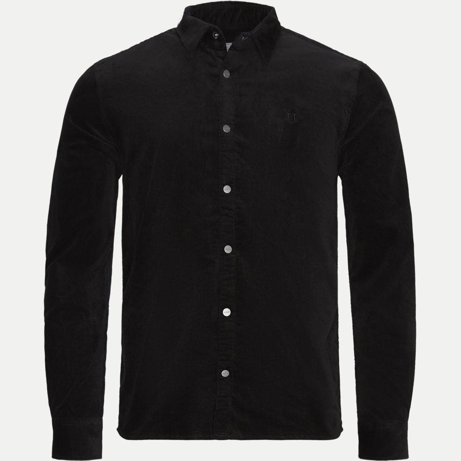 FELIX CORDUROY SHIRT LDM410036 - Felix Corduroy Shirt - Skjorter - Slim - SORT - 1