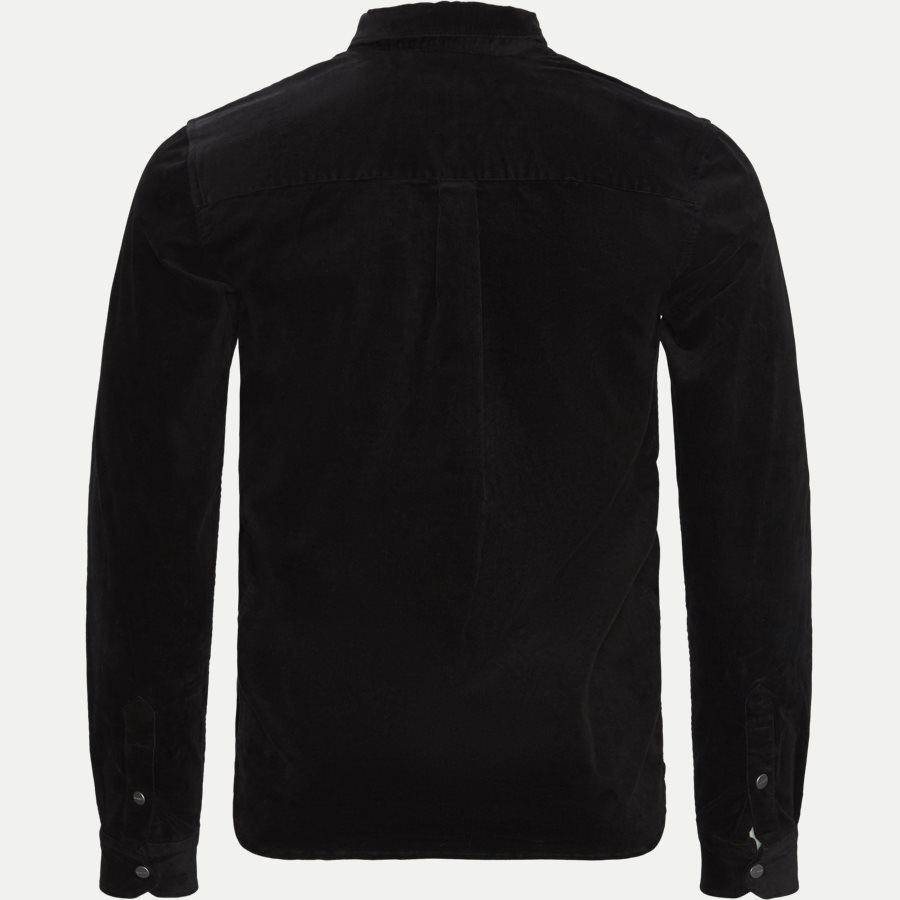 FELIX CORDUROY SHIRT LDM410036 - Felix Corduroy Shirt - Skjorter - Slim - SORT - 2
