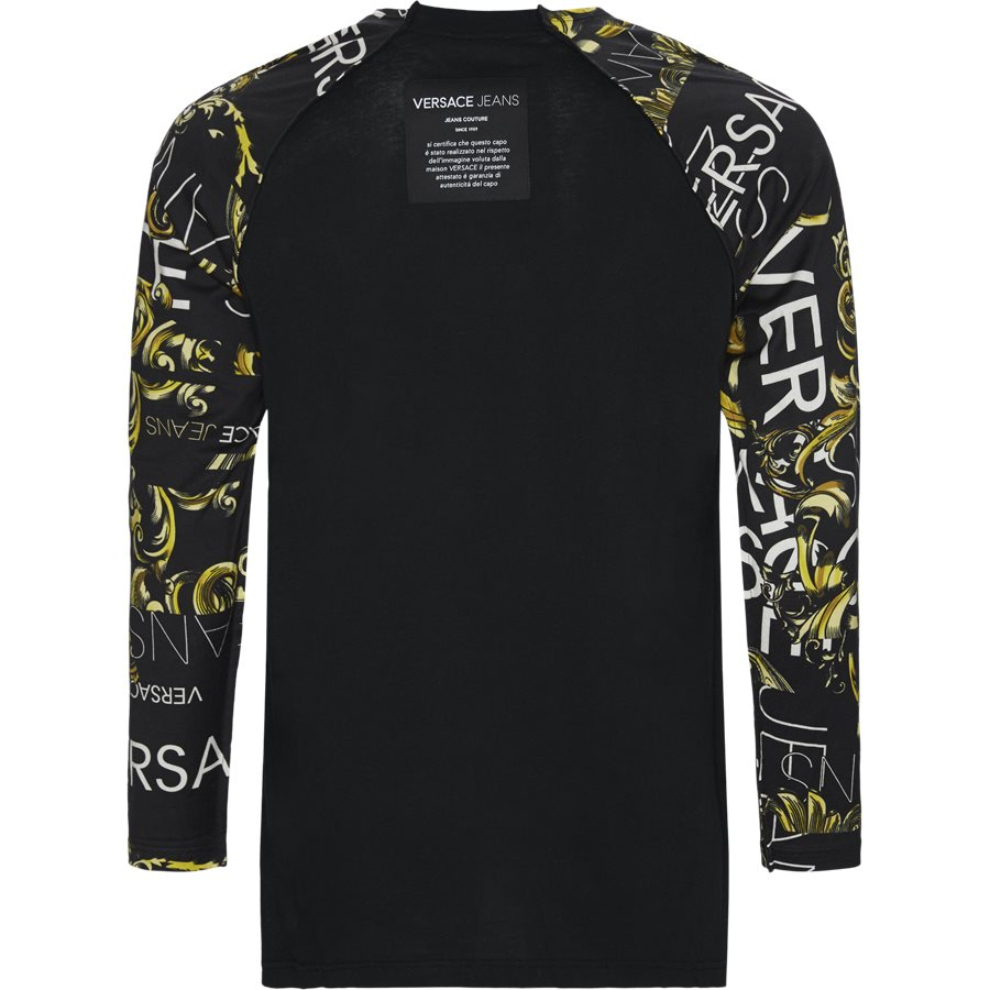 B3 GTA717 11620 899 - GTA717 Langærmet Tee - T-shirts - Loose - SORT - 2