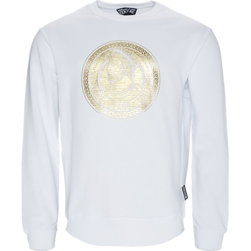 versace jeans – Versace jeans gua7fs crewneck sweatshirt hvid fra quint.dk