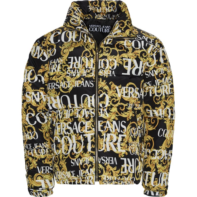 Image of   Versace Jeans Couture Print Sprous Barque Allov Jacket Sort