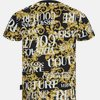 B3 GUA7S0 S0588 899 - J. Cot. Print Sprous Barqoque - T-shirts - Slim - SORT - 2