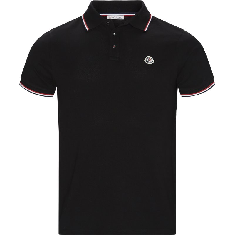 Billede af Moncler Regular fit 84456 00 84556 19 T-shirts Black
