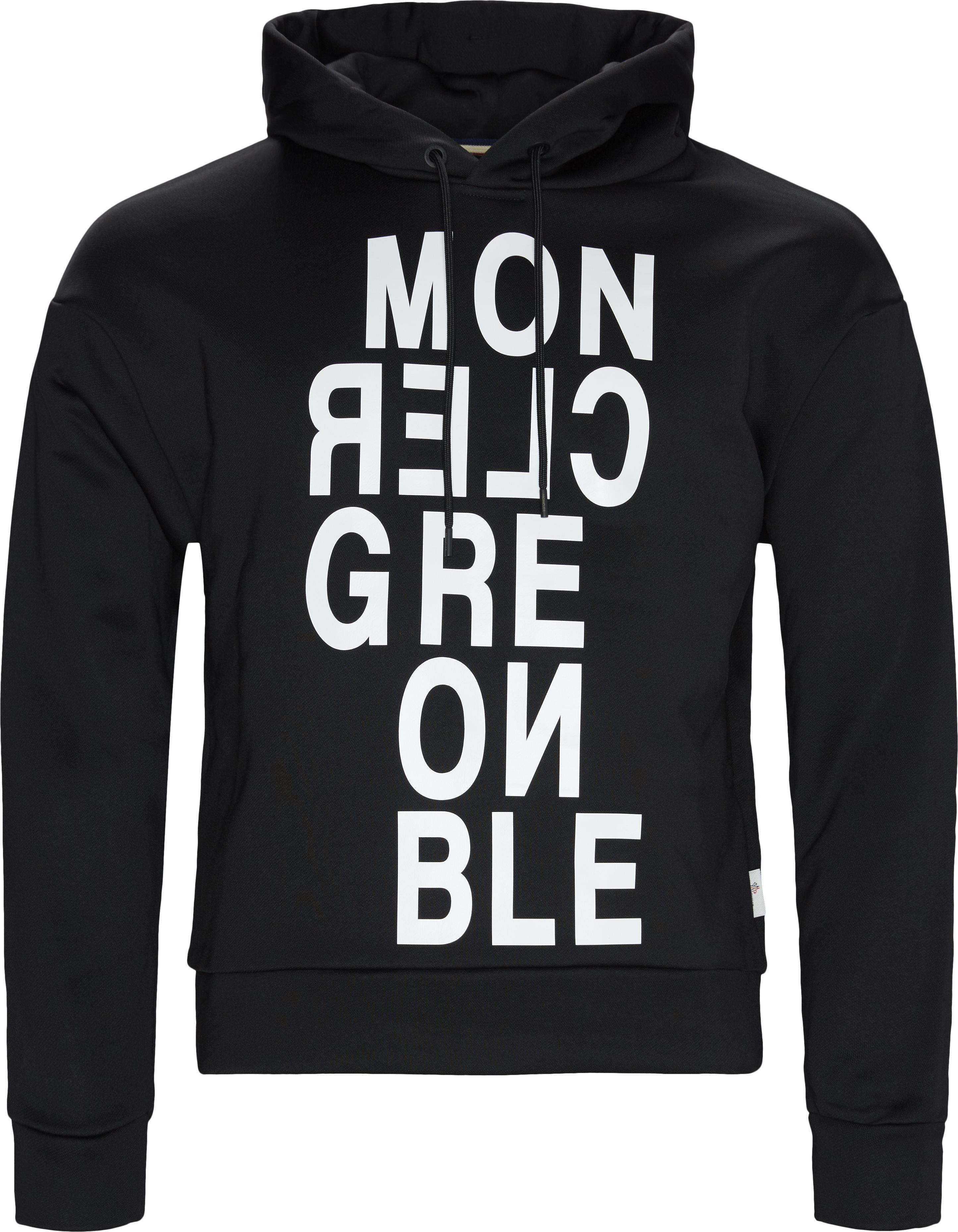 Hoodie  - Sweatshirts - Regular fit - Sort
