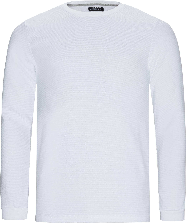 Perth LS Tee - T-shirts - Regular fit - Hvid