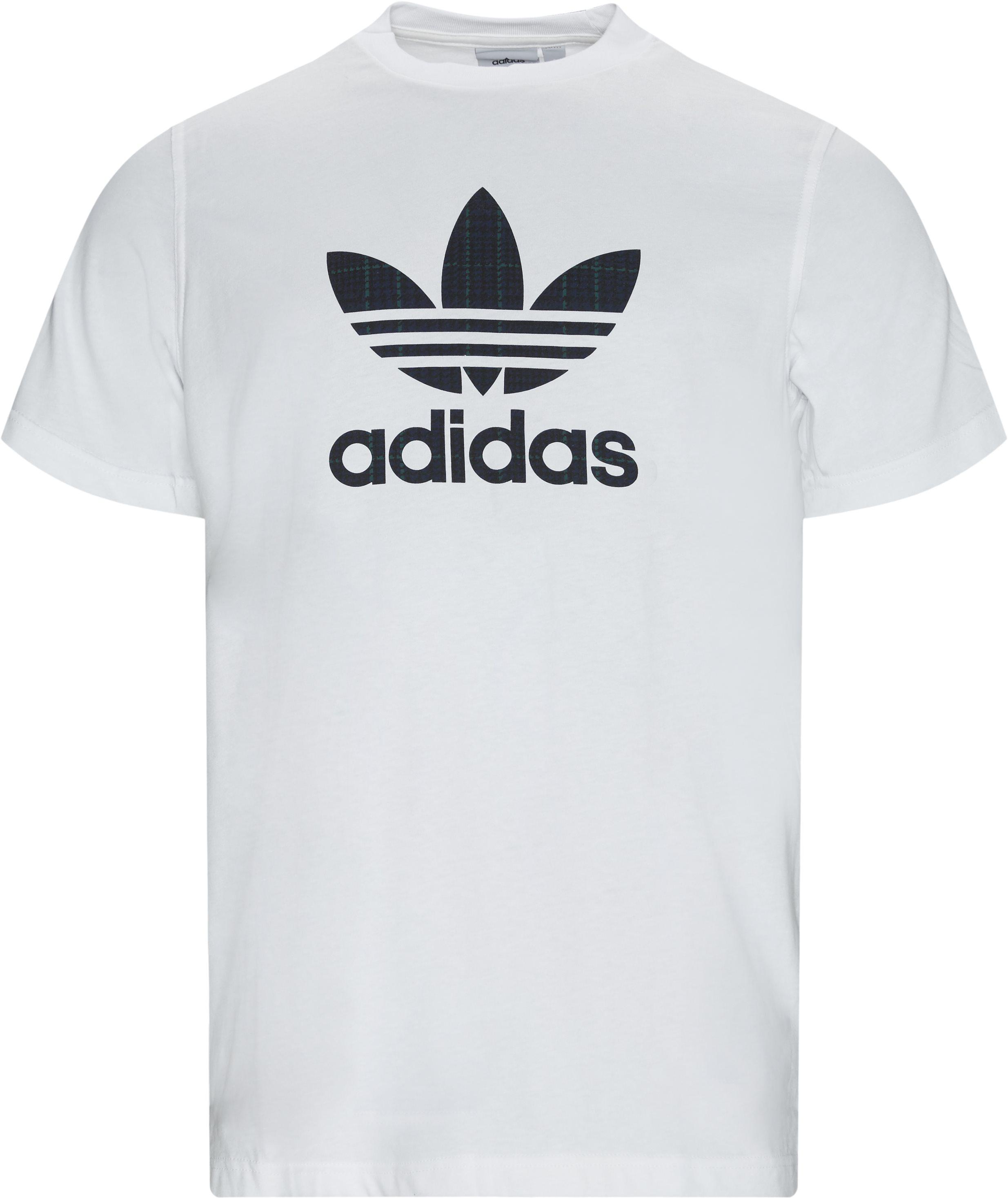 Tartan Infill Tee - T-shirts - Regular - Hvid