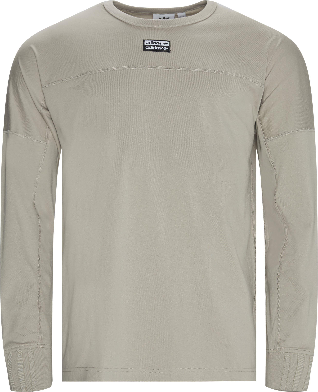 R.Y.V. Lit LS Tee - T-shirts - Regular fit - Brun
