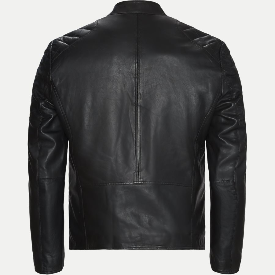 GERRARD - Gerrard Skindjakke - Jakker - Regular - BLACK - 2