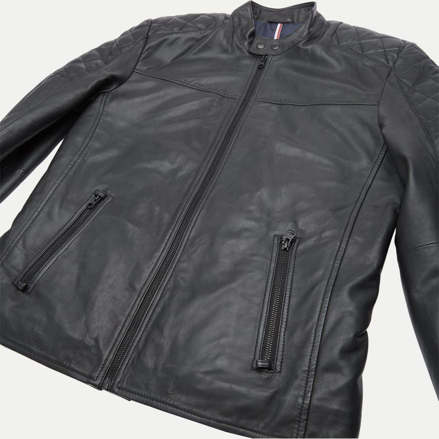 GERRARD - Gerrard Skindjakke - Jakker - Regular - BLACK - 6