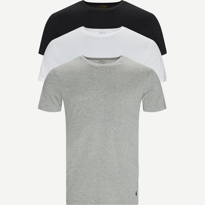 3-Pack Classic Cotton Crewneck T-shirt - Undertøj - Slim - Multi