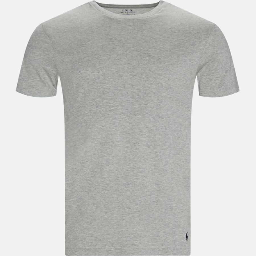 714709274 CREW 3 PACK - 3-Pack Classic Cotton Crewneck T-shirt - Undertøj - Slim - GRÅ/HVID/SORT - 6