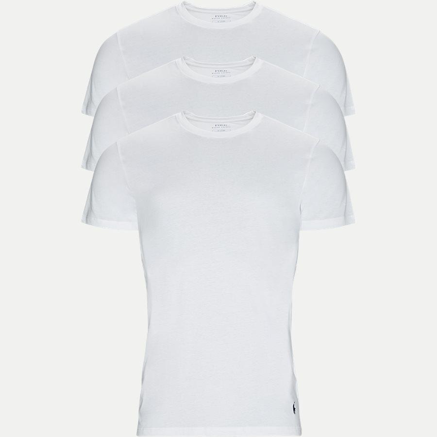 714709274 CREW 3 PACK - 3-Pack Classic Cotton Crewneck T-shirt - Undertøj - Slim - HVID - 1