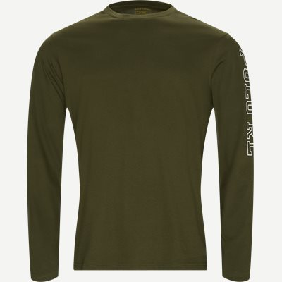 Long Sleeved Crew Neck T-shirt Regular | Long Sleeved Crew Neck T-shirt | Army