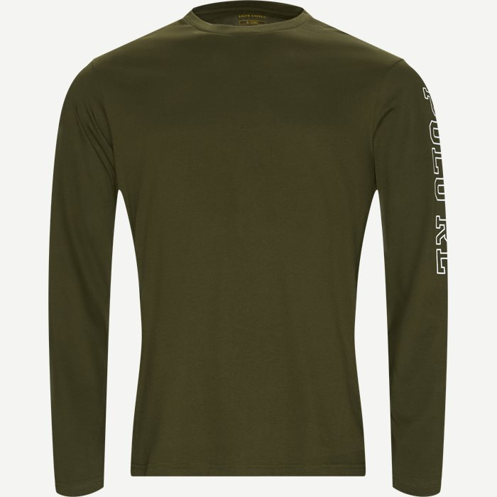 Long Sleeved Crew Neck T-shirt - T-shirts - Regular - Army