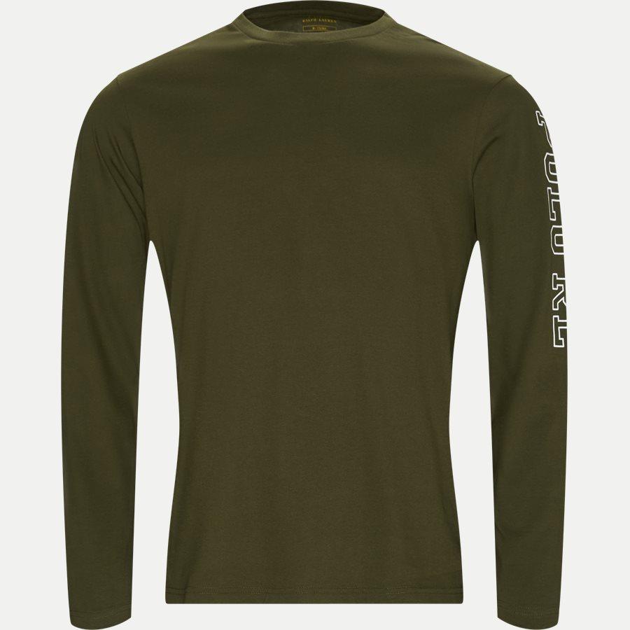 714757467 CREW - Long Sleeved Crew Neck T-shirt - T-shirts - Regular - OLIVEN - 1