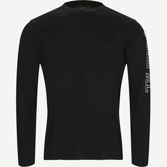 Long Sleeved Crew Neck T-shirt - T-shirts - Regular - Sort